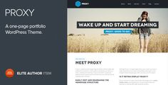 Proxy is a single page portfolio theme for creative teams. It is based on simple, pixel perfect flat design, that is retina-display ready, ensuring that your content shows sharp and beautiful on devices with high resolution screens. Proxy comes with a simple yet powerful theme options panel that will have your site set up and running within minutes.