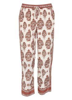 Pantalon 7/8 imprimé en coton mélangé  Beige by MAISON SCOTCH
