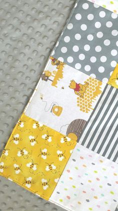 Classic Pooh Abc Alphabet Fabric Quilt Panel Nursery