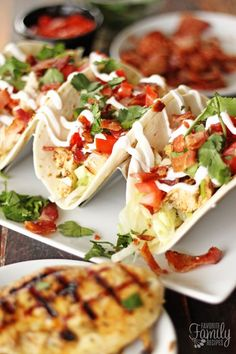 This grilled chicken taco recipe is a perfect idea for dinner last night! I was looking for easy and healthy dinner recipes and I'm so glad I found this - my kids loved it!!!!
