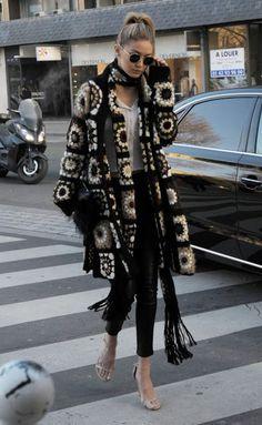 Look Fashion, Winter Fashion, Fashion Outfits, Womens Fashion, Fashion Trends, Looks Style, My Style, Gigi Hadid Style, Crochet Coat