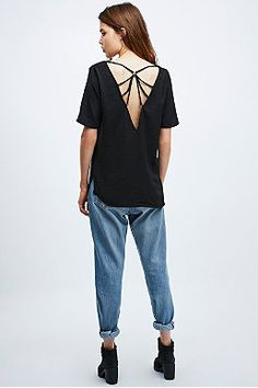 Staring at Stars D-Ring Tee in Black