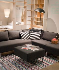 Lundia tilanjakajana. Decor, Furniture, Shelves, Interior, Home, Sectional Couch, New Homes, Wall, Vertical