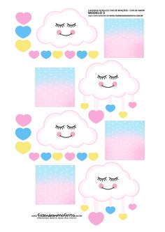 Raindrop Baby Shower, Baby Boy Shower, Cloud Party, Betty Boop, Girl Birthday, Free Printables, Alice, Birthdays, Clouds
