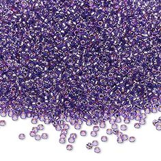 Seed bead, Miyuki, Duracoat® silver-lined translucent lavender, rocaille. Sold per pkg. Beaded Bracelet Patterns, Beaded Jewelry, Beaded Bracelets, Bugle Beads, Seed Beads, Uniform Design, Purple Rain, Jewelry Supplies, Color Change