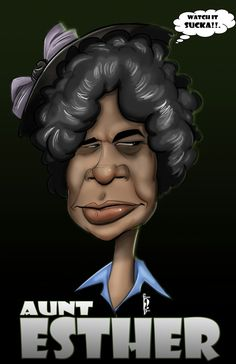Aunt Esther - Sanford & Son - Watch It Sucka! Black Love Art, Black Girl Art, Art Girl, Dope Cartoon Art, Black Cartoon, African American Art, African Art, Sanford And Son, Black Art Pictures
