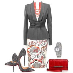 Untitled #96 by dm111 on Polyvore featuring moda, Donna Karan, River Island, Christian Louboutin, Versace and Madison Parker