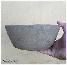 Blog Clik : Vaso Sustentável! Como fazer um Vaso de Jornal e cimento!