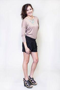 Honey and Lace : Black Harem Short Honey Lace, Harem Shorts, Cute Wedges, Sporty, My Style, Stylish, Tees, How To Wear, Clothes