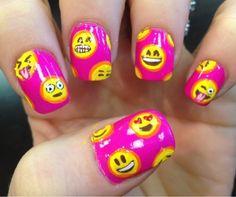 I love these #emoji #nails