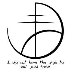 A sigil for weight loss or resisting junk food urges.