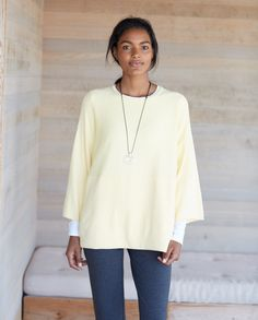Pure Jill kimono-sleeve sweater (in sunlight heather).