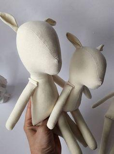 Premade de muñeca en blanco Fawn la familia para hacer a mano