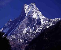 Machapuchare, Himalaya Mountains in Nepal - Machapuchare Mount view images