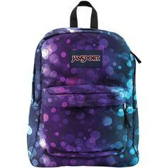 JanSport SuperBreak Backpack-Multi Daydream Print ($36) ❤ liked on Polyvore featuring bags, backpacks, blue backpack, polyester backpack, print backpacks, jansport daypack et backpack
