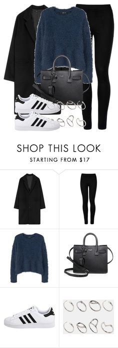 """Untitled #11869"" by vany-alvarado ❤ liked on Polyvore featuring Wolford, MANGO, Yves Saint Laurent, adidas Originals and ASOS"
