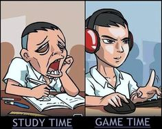 Study Time vs Game Time.