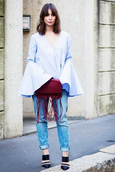 The Brand Behind Street Style's Most Popular Ruffles via @WhoWhatWear