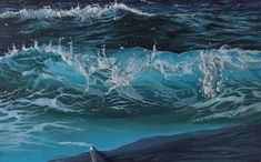 Learn how to paint waves with acrylic paints in this painting lesson. Use directional brushstrokes to create the feeling of movement and learn how to paint realistic sea foam and spray from the waves in motion. Acrylic Painting Techniques, Painting Videos, Painting Lessons, Acrylic Paintings, Art Techniques, Art Lessons, Body Painting Festival, Learn Art, Pour Painting