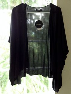 NWT Cotton On Talia Cropped Kimono Black Small New with Tags #CottonOn #Kimono