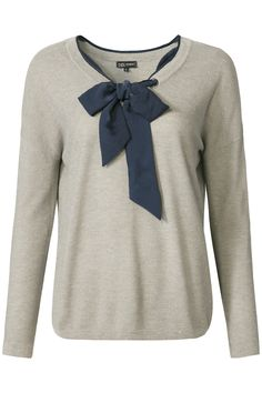 Glamping | Fall collection | Sweater | Bow | Grey | Blue
