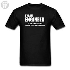 Thwo Cotton Men's Trust Me I'm An Engineer Funny T Shirt Black (*Amazon Partner-Link)