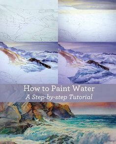 Learn How to Paint Water with this free guide #OilPaintingWater #OilPaintingInspiration