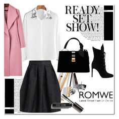 """""""Romwe #1/4"""" by s-o-polyvore ❤ liked on Polyvore featuring Miu Miu, Kendall + Kylie, Dolce&Gabbana and Bobbi Brown Cosmetics"""