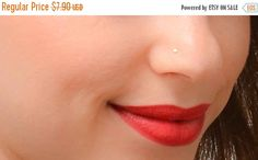 CHRISTMAS SALE Tiny Nose Stud Gold Nose Stud by JewelsByMoonli
