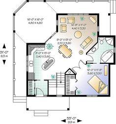 Small Cabin Plans, Cabin House Plans, Cabin Floor Plans, Small House Plans, Cottage House Plans, Cottage Homes, Cabin Homes, Log Homes, How To Build A Log Cabin
