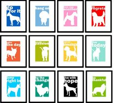 Silhouette Dog Print You Choose Dog Silhouette by GoingPlaces2, $14.00