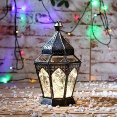 Home-decor-candles-Diwali-Illuminati Arabasque Lantern Clear & Silver - FabFurnish.com