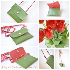 green leather purse by // Between the Lines //, via Flickr