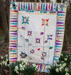 Spring Fling Quilt by my Mom