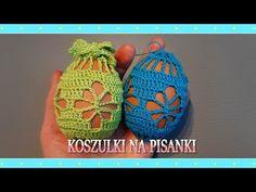 Koszulka na pisankę (wzór 3.) - jajka wielkanocne - YouTube Chrochet, Knit Crochet, Crochet Hats, Easter Crochet, Happy Easter, Easter Eggs, Christmas Ornaments, Kawaii, Knitting