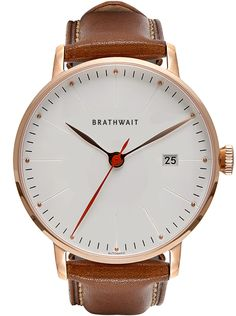 The automatic minimalist wrist watch: Marron top grain Italian calf leather strap – Brathwait