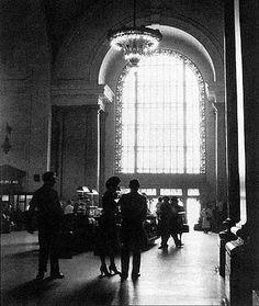 Vintage photo of Michigan Central Station in Detroit, MI