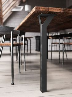 Table legs are essential to furnitures overall design. Besides the innovative design, the Y-Table Leg has a hollowed center that can be used as a cable manager! Metal Furniture Legs, Steel Furniture, Cool Furniture, Modern Furniture, Furniture Design, Furniture Ideas, Barbie Furniture, Drawing Furniture, Luxury Furniture