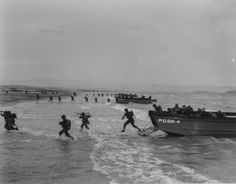 Invasion of Normandy, June 1944 Us Marines, Department Of The Navy, Normandy Invasion, Landing Craft, Us Coast Guard, History Images, D Day, World History, World War Two