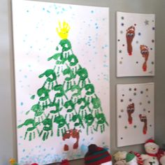Playroom Christmas decor! From a local home tour.