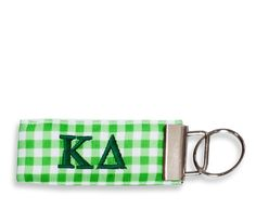 Kappa Delta Gingham Key Fob www.sassysorority.com