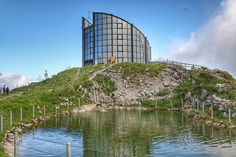Architecture of a Swiss mountain restaurant - Leysin summit of la Berneuse - Le Kuklos panoramic restaurant Opera House, Cities, Mountain, Restaurant, Architecture, Building, Blog, Travel, Arquitetura