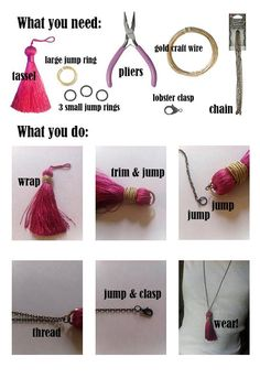 DIY Tutorial Gatsby Inspired / How to Make Gatsby Inspired Tassel Necklace - Bead&Cord Diy Jewelry Necklace, Beaded Tassel Necklace, Tassel Jewelry, Old Jewelry, Jewelry Making, Necklaces, Jewellery, Pearl Necklace, Bracelets