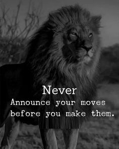 Positive Quotes : QUOTATION – Image : Quotes Of the day – Description Never announce your moves before you make them. Sharing is Power – Don't forget to share this quote ! Wisdom Quotes, True Quotes, Great Quotes, Words Quotes, Qoutes, Motivational Quotes, Quotes Inspirational, Sayings, Super Quotes