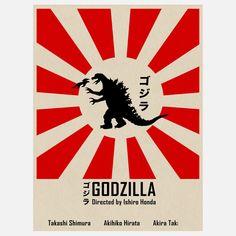 Fab.com | Godzilla Inspired Red 18x24