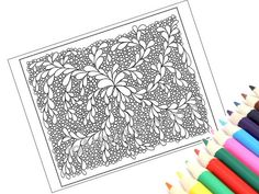 Printable+Zentangle+Patterns | Printable Zentangle Inspired Coloring Page, Zendoodle Pattern, Page 13