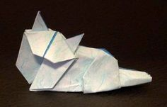 Origami Persian cat by Kunihiko Kasahara folded by Gilad Aharoni