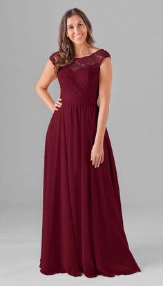 aee76fad1e5cd Bella Lace Top Bridesmaid Dress Rocker Girl Fashion, Purple Lace Bridesmaid  Dresses, Cap Sleeve