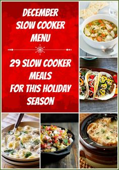 28 Slow Cooker Meals ~ It is getting colder