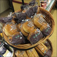 Bread Display, Cash Wrap, Cold Cuts, Burger Buns, Store Fixtures, Charcuterie, Wicker Baskets, Baked Goods, Bakery